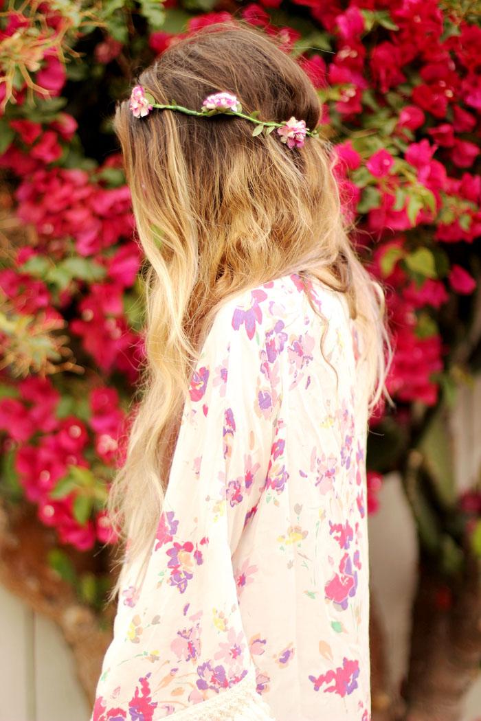 floral beach attire