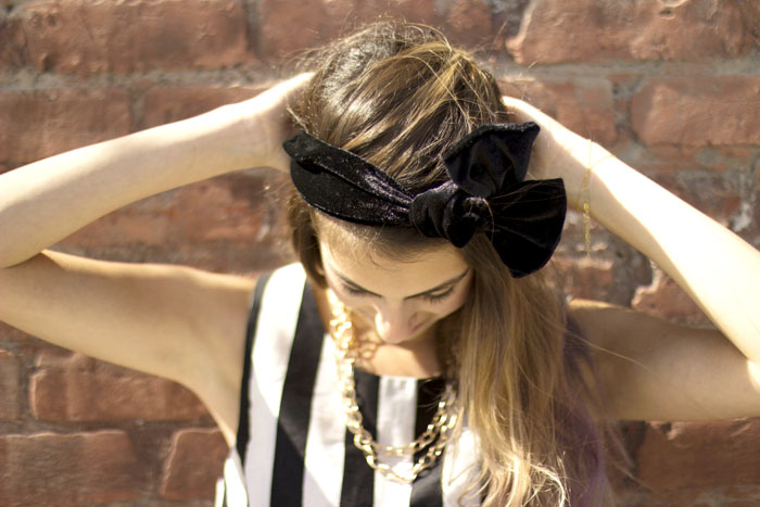 black bow headbands