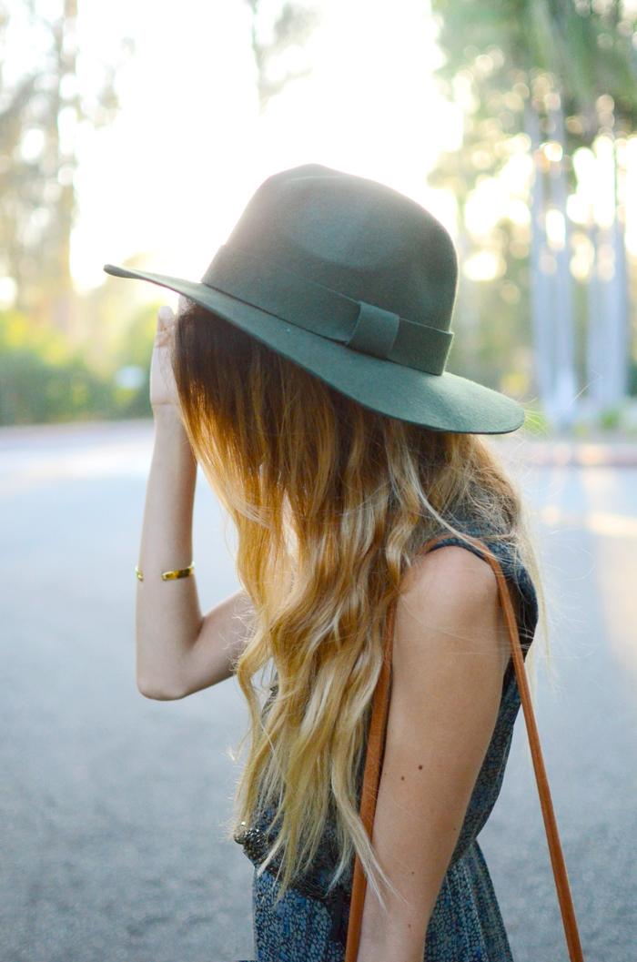 emerald fedora hat