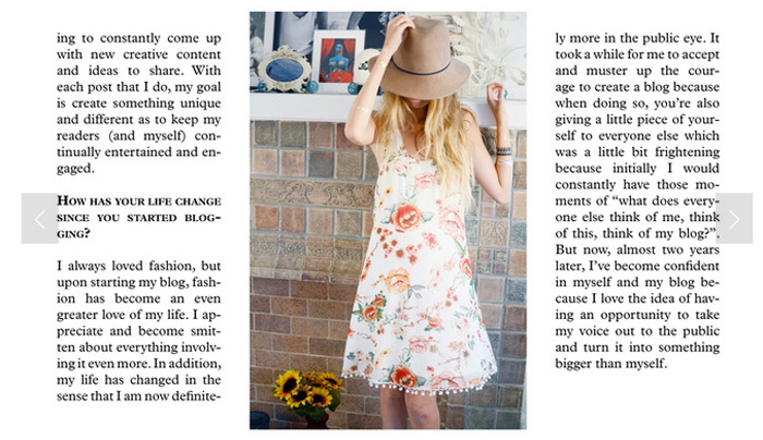 la fashion blogger feature