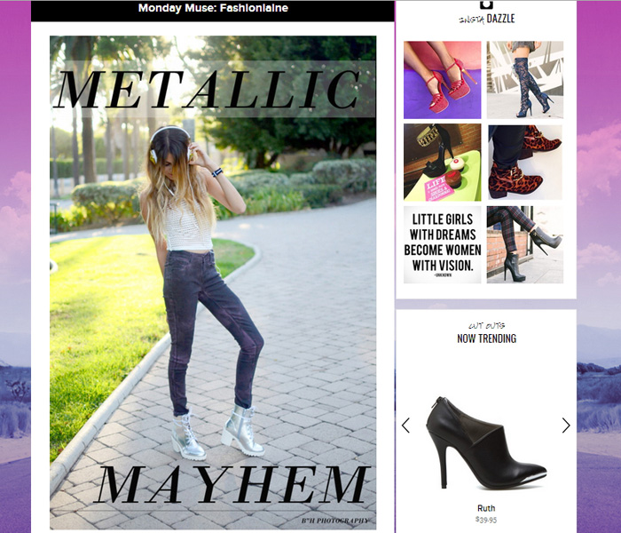 shoedazzle featured blogger