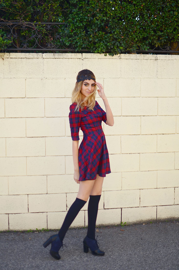 taylor swift plaid dress