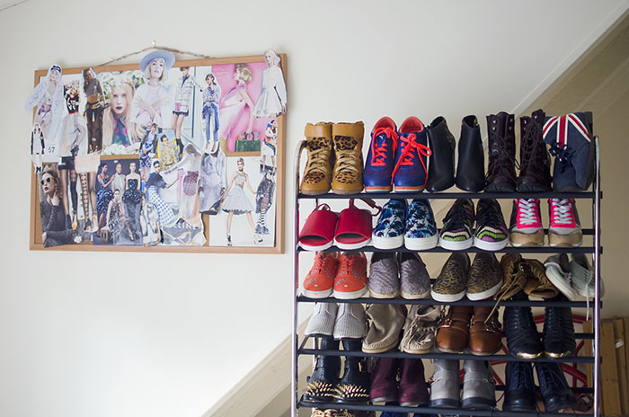 container store shoe rack