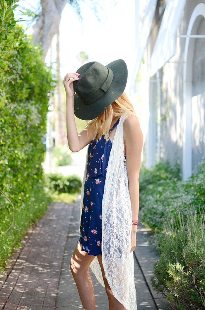 green floppy hat