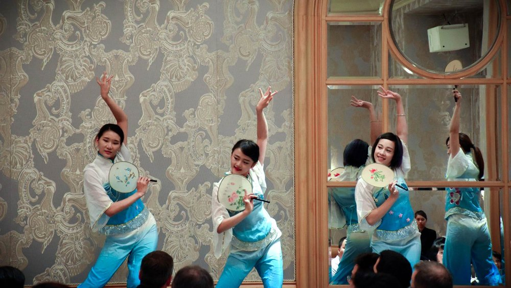 Chinese Fan Dance : 扇子舞