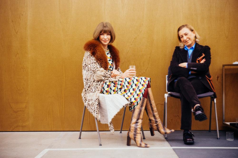 Anna Wintour & Miuccia Prada, Prada Fall 2017