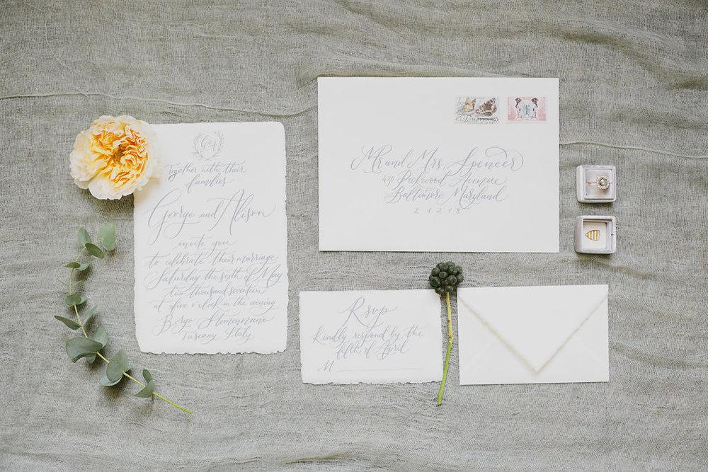 guida partecipazioni - wedding invitation guide - Wildflowers Calligraphy