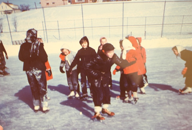 Ice Skating at Mulick Park 1950's