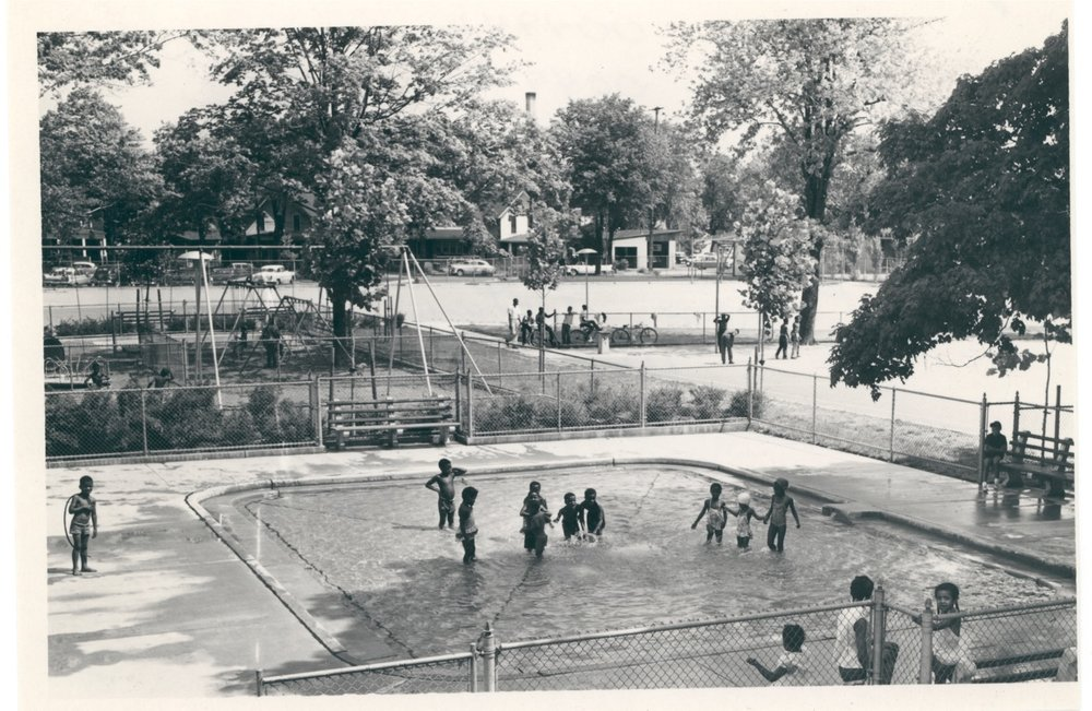 CAMPAU PARK-SCHOOL WADING POOL, 1959