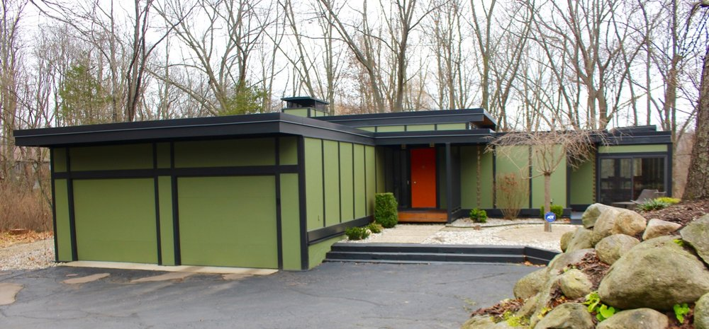 Katydid House in Kalamazoo shown here by  award-winning West Michigan architect Norman F. Carver Jr., F.A.I.A.  Photo by Pam VanderPloeg