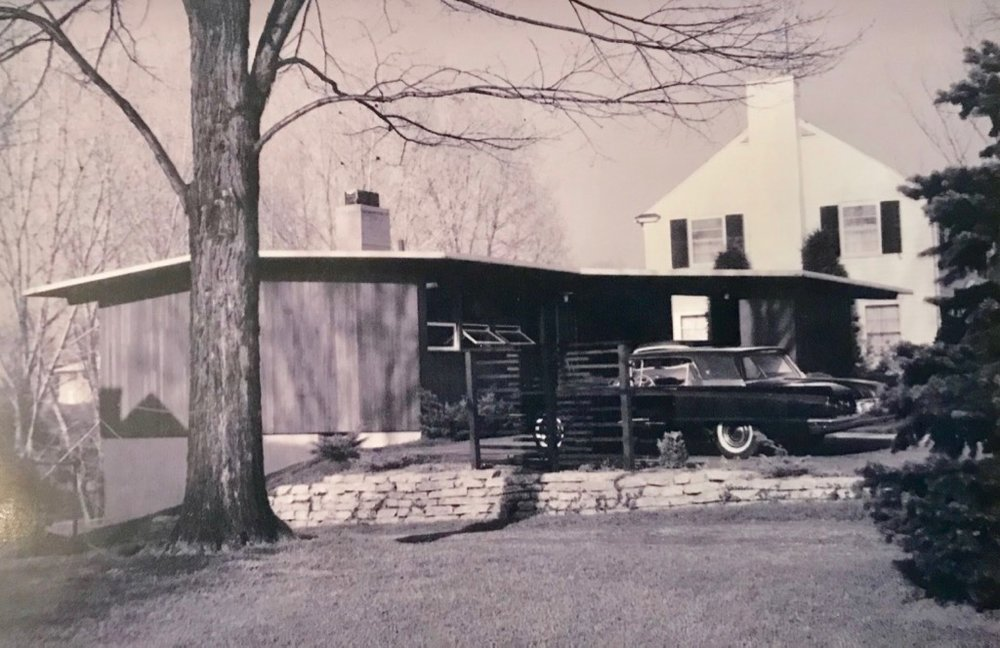 ORIGINAL HOME EXTERIOR WITH T-BIRD