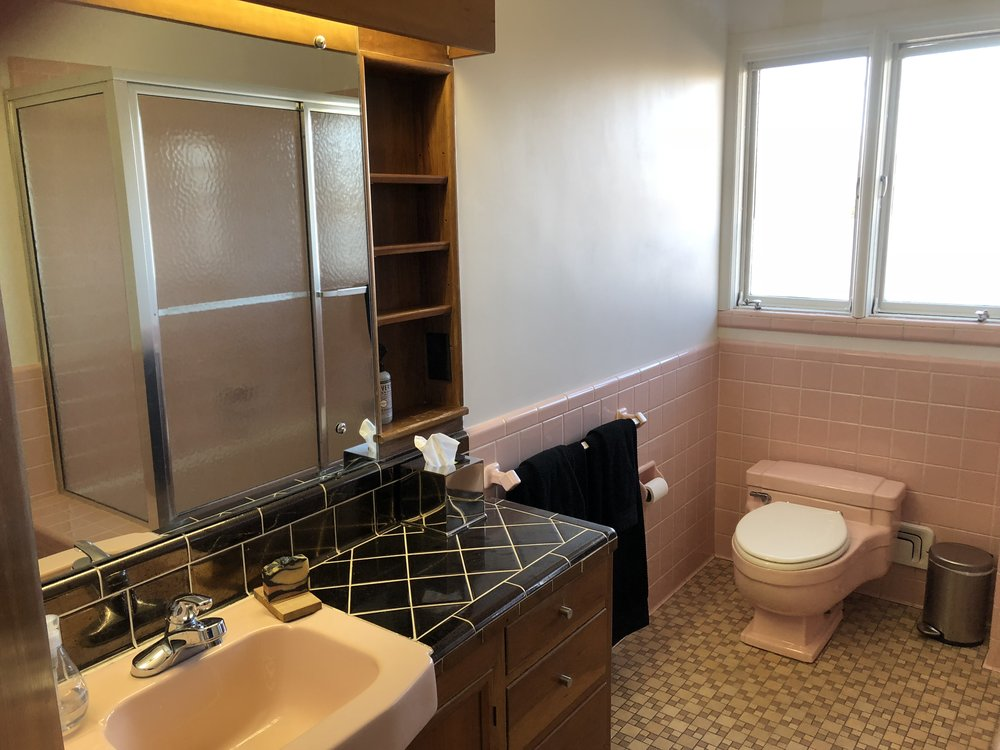 PINK TILE GUEST BATHROOM