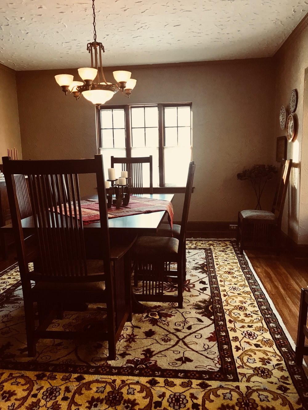 CURRENT VIEW OF DINING ROOM