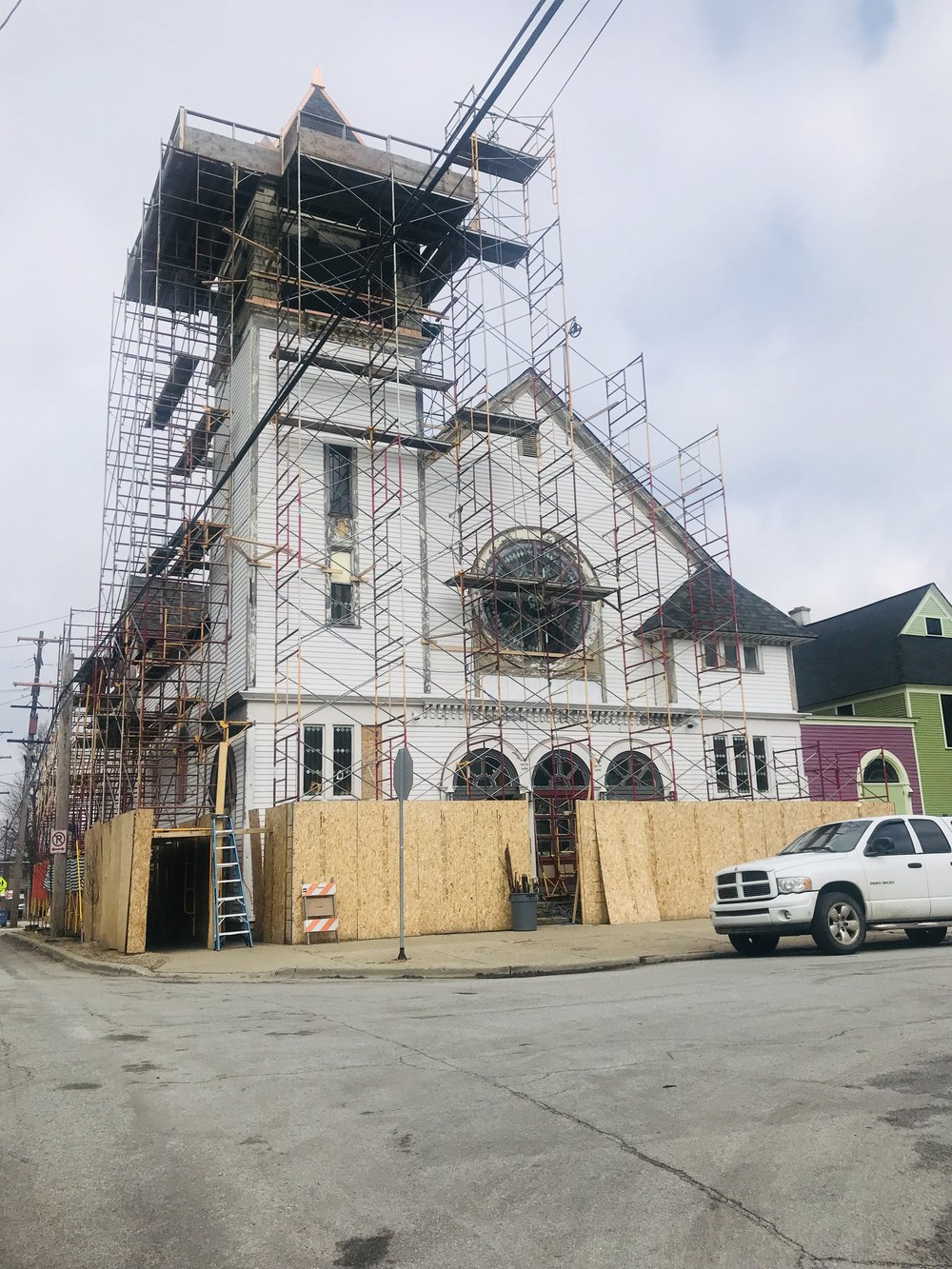 March 2019, the new painted siding is installed on the exterior..