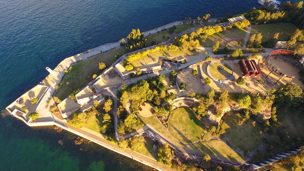 Ballast Point Park, a former fuel depot, Birchgrove, Sydney Harbour