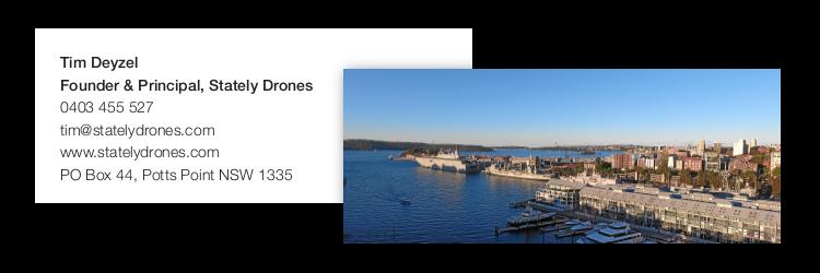 Stately Drones - Tim Deyzel - Namecard