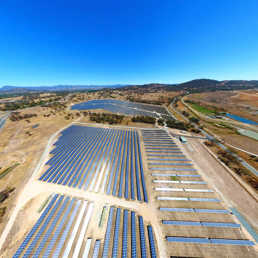 Composite Perspective View of the Mugga Land Solar Park