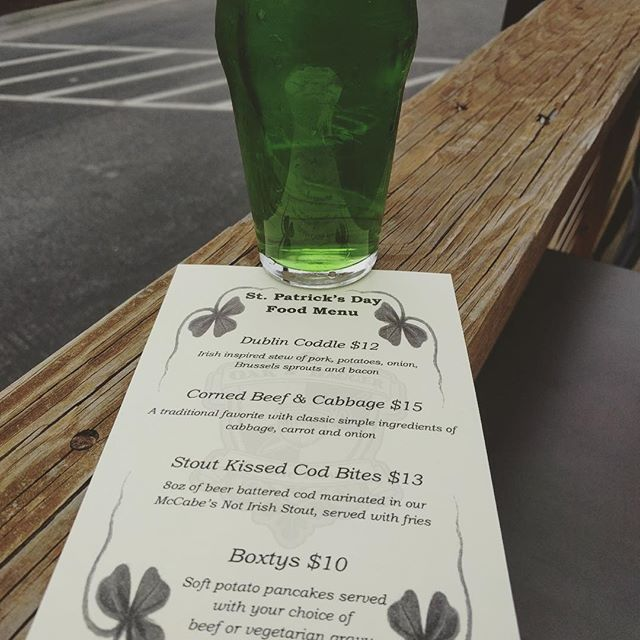 Happy Saint Patrick's Day! Stop by and enjoy one of our entree specials and grab a pint! Sláinte! #craftbeer #craftfood #stpatricksday #raleigh #downtownraleigh #marchmadness #mybracketsbustedalready #beerhelps