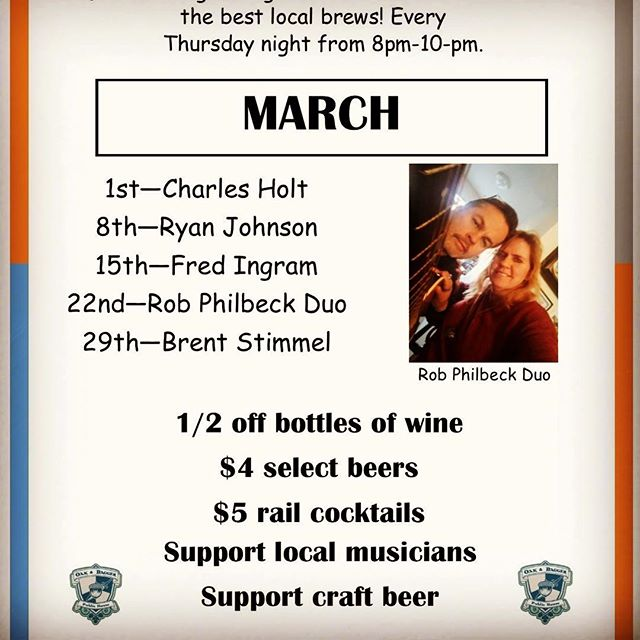 Happy Friday Eve Everyone! It's #thirstythursday again, which means all day drink specials & live music at the pub! Come enjoy some brews and tunes with The Rob Philbeck Duo, starting at 8. March Madness & Music for the win. #sweet16 #marchmadness #thirstythursdays #localraleigh #raleigh #downtownraleigh #craftbeer #craftfood