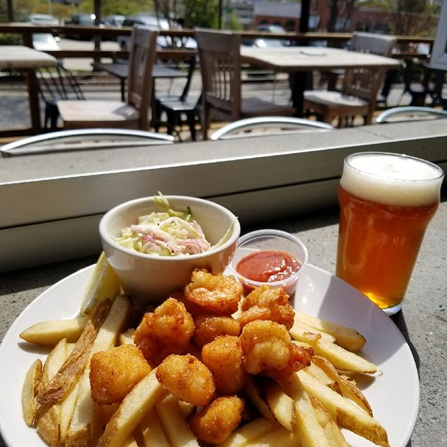 Happy Saturday! Come enjoy this gorgeous weather with us and check out tonight's specials. We've got fish & shrimp and a tasty roasted pork loin! #itstheweekend #happysaturday #patiodining #beerme #919 #dtr #drinklocal #craftbeer #craftfood