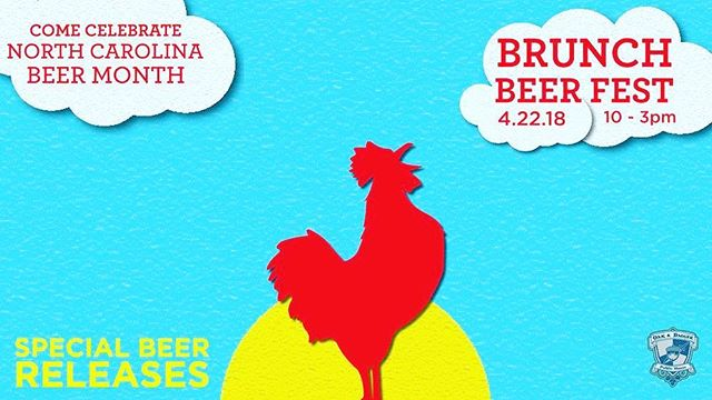 "Oak & Dagger is celebrating NC Beer Month with a ""Brunch Beer Beer Brunch on Sunday, April 22.  We will be creating one-time only brunch themed brews just for the Beer Brunch, and have some special food items paired with the beers. See you there! #sundayfunday #brunch #beerbrunch #bacon #ncbeer #beermonth #dtr #craftbeer #craftfood"