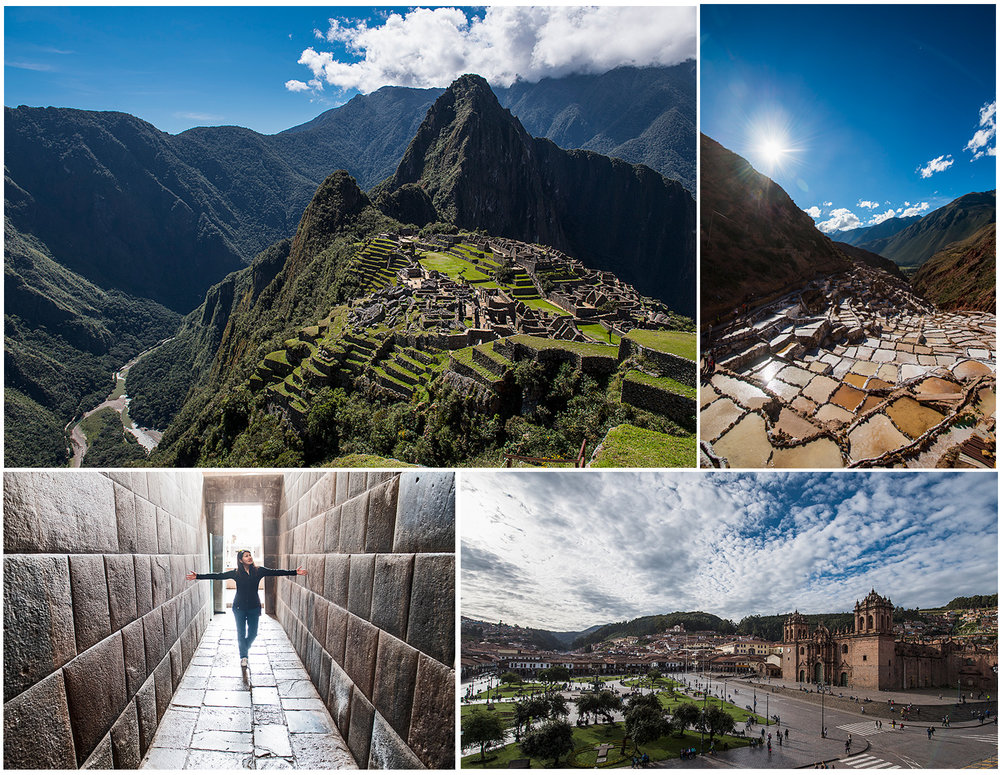 Images show Cusco, Machu Picchu and the sacred valley