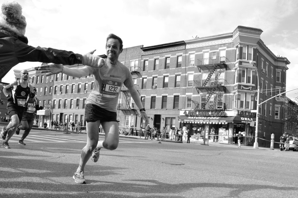 A runner during the New York City Marathon on Nov. 4, 2014 in Park Slope, Brooklyn.