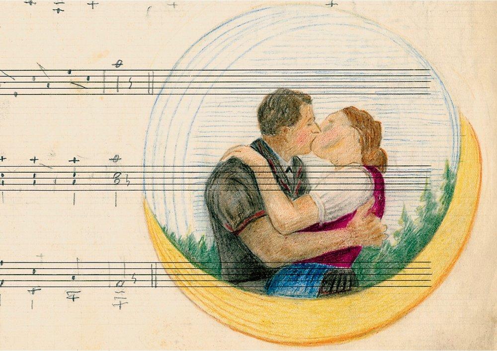 Eine von Robert Fellmanns Zeichnungen, mit denen er seine Partituren zu verschönern pflegte.