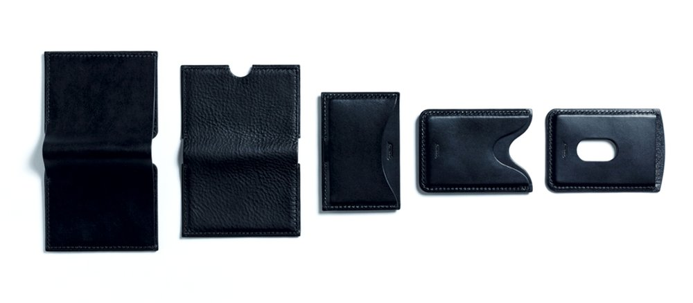 The Carta Collection - Five minimal wallets, hand-stitched in Italian leather.