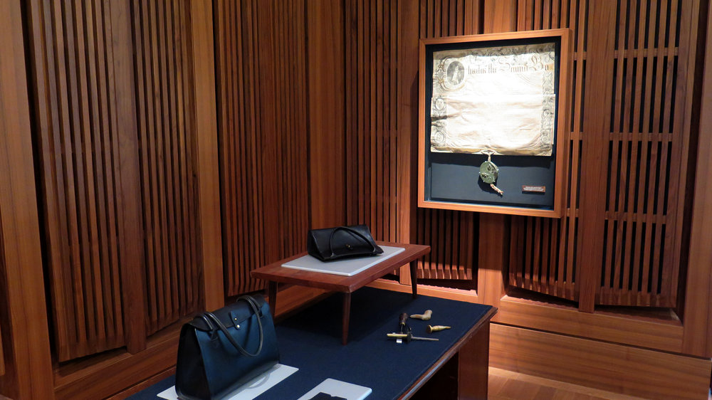 A selection of my work in front of one of the old Charters.