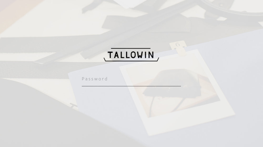 Tallowin client portal, password protected