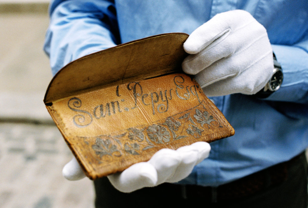 Samuel Pepys' Wallet - open