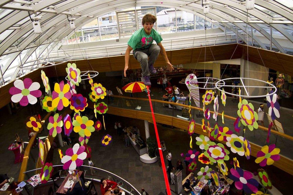 Trickline Show auf der Highline