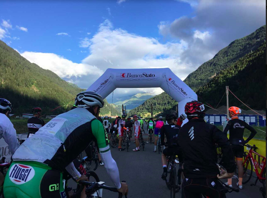 Start of the Granfondo San Gottardo