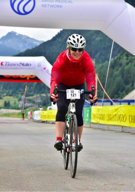 Finish line of the Granfondo San Gottardo