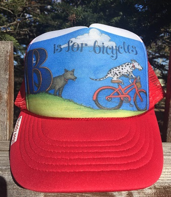 Letter B Red Trucker Hat.jpg