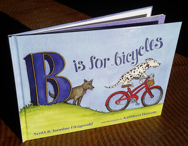 Finally, a children's book focused on the benefits of the cycling lifestyle: self confidence, resilience, freedom, connection to community, connection to the planet.  Fall in love with these two dogs, and their animal friends!