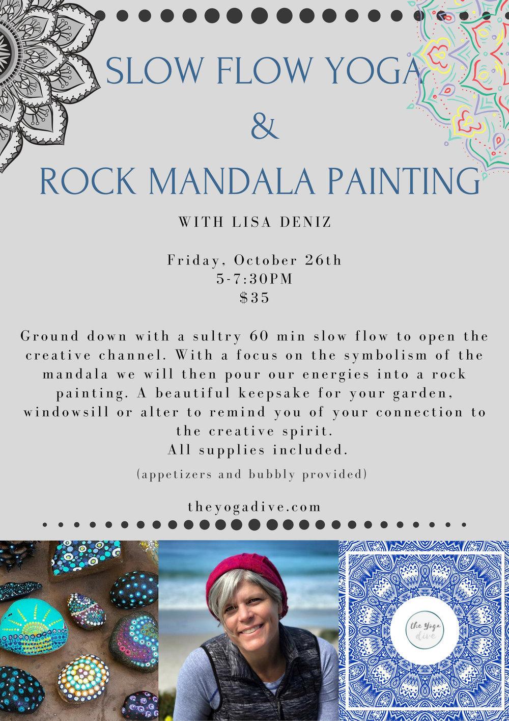 Artist Lisa Deniz and beautiful Painted Rock Mandalas