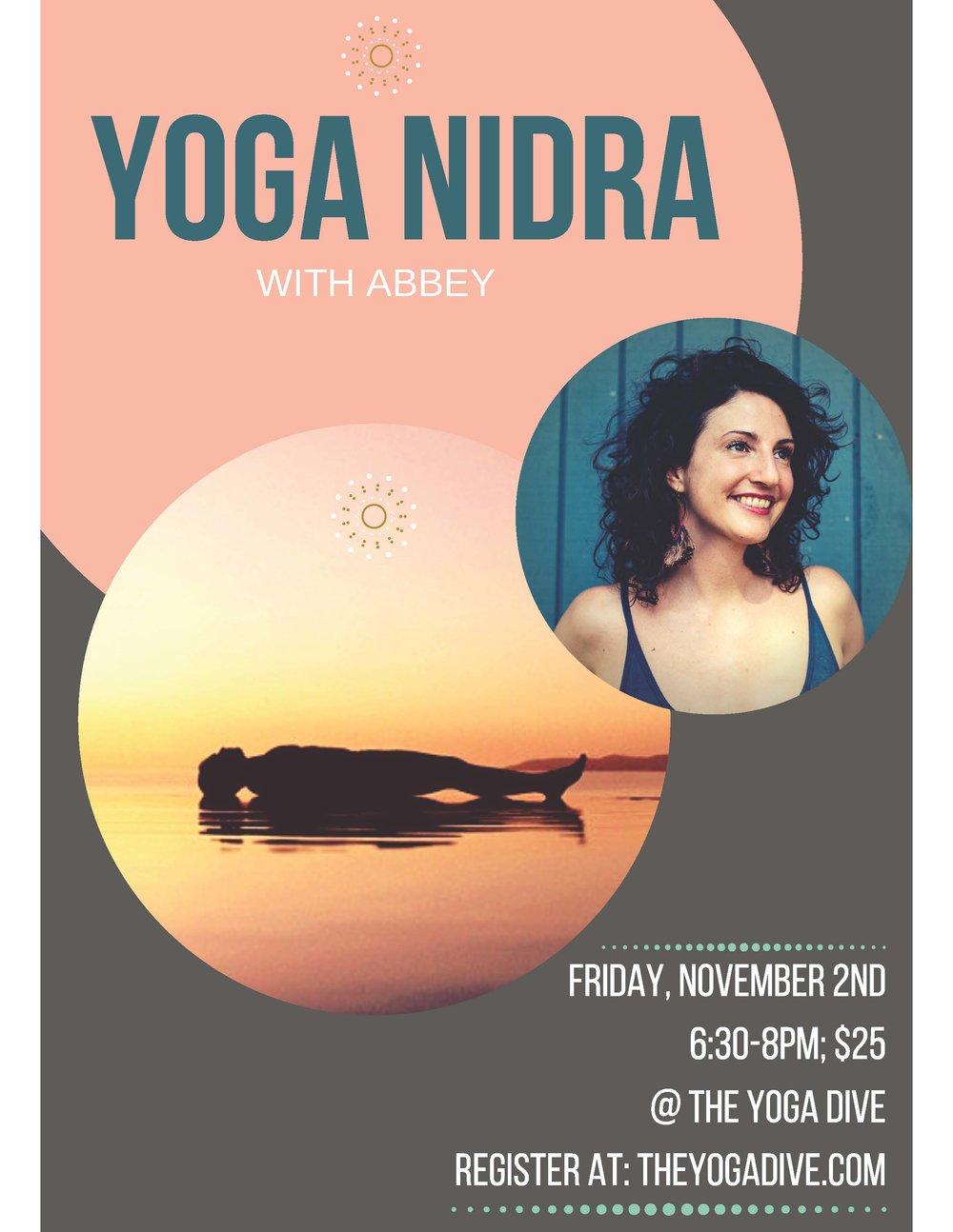 Yoga Nidra Workshop at The Yoga Dive