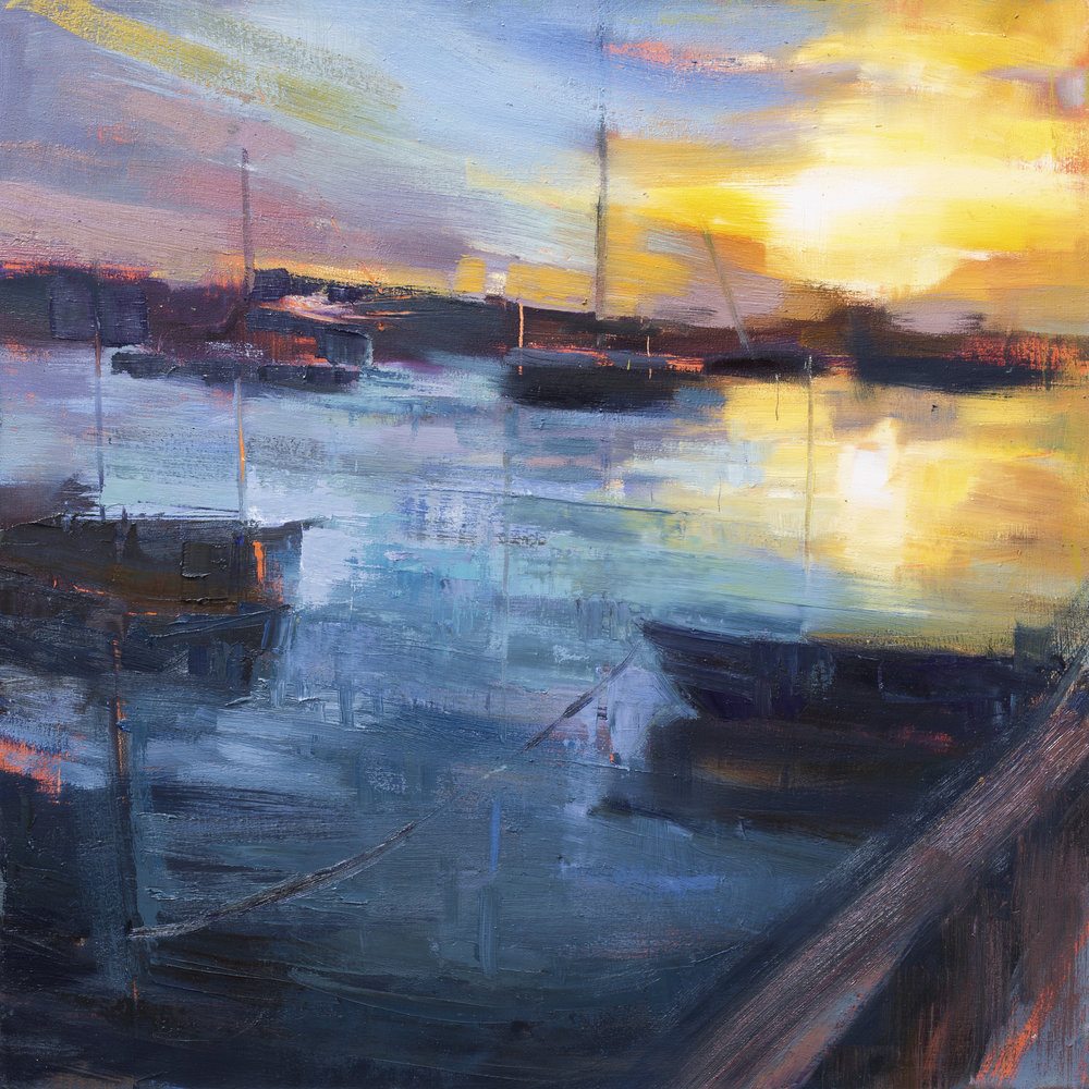 """Southwold Harbour Sunset 1"""