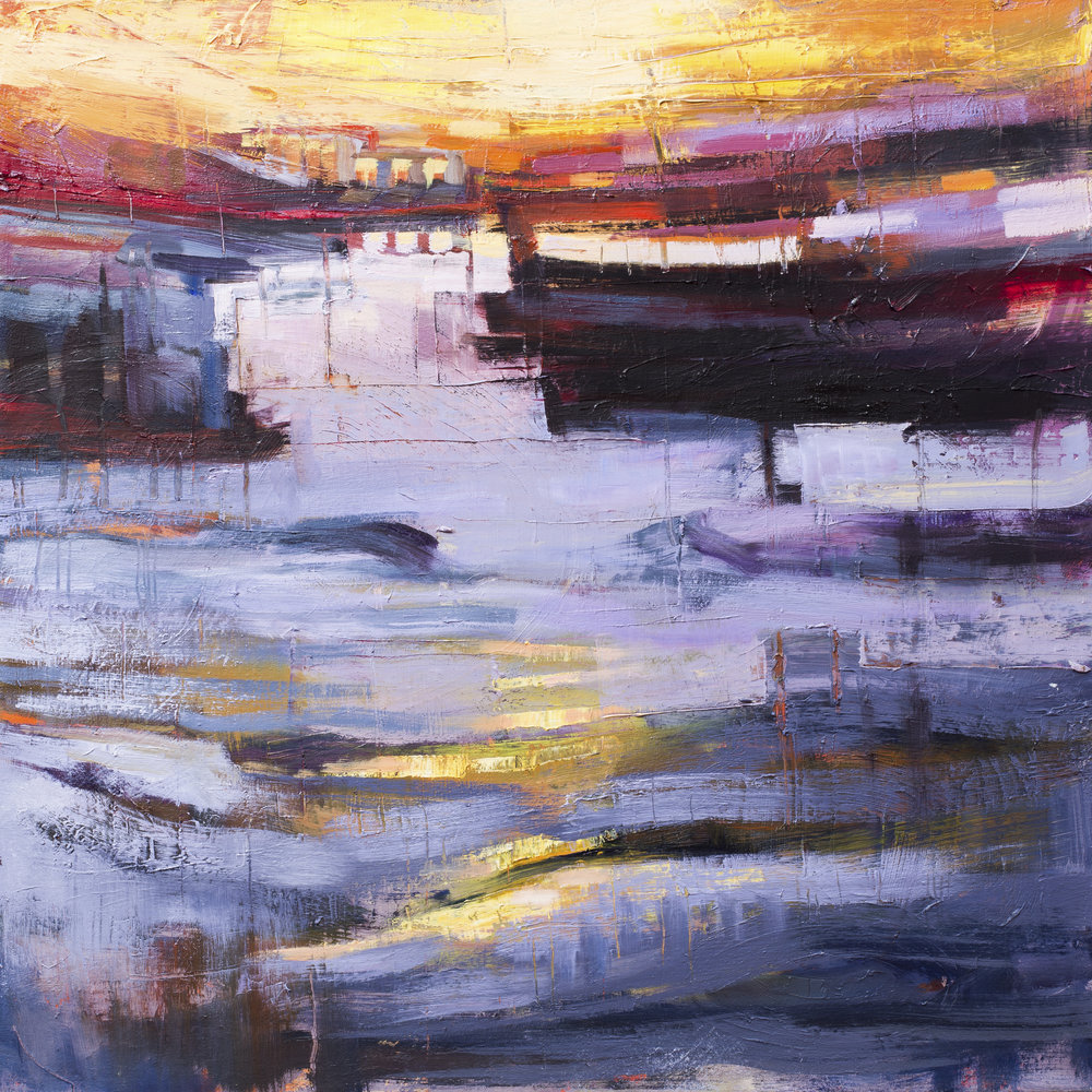 """Southwold Harbour Sunset 2"""