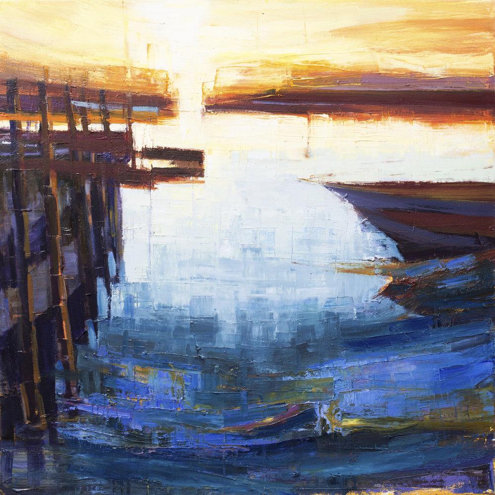 """Southwold Harbour Sunset 3"""