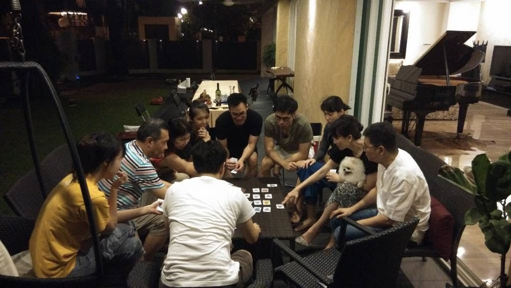 Home Board Game Session