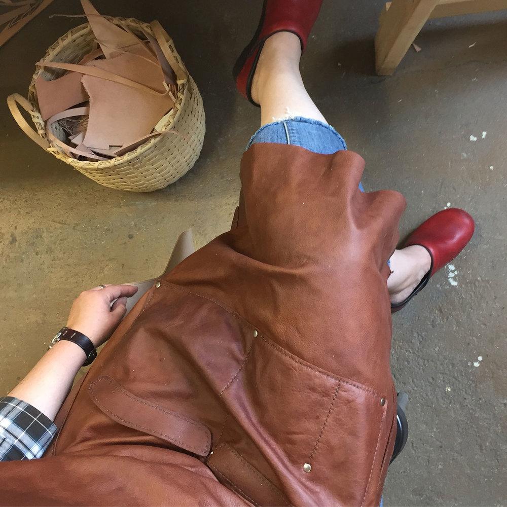 Leather shop apron