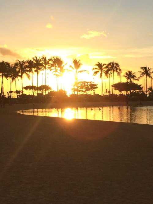Sunset in Waikiki...