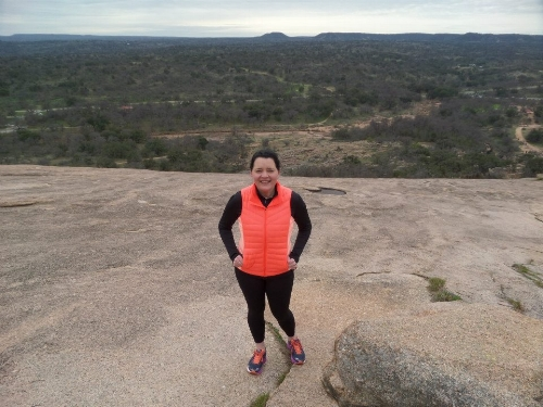 Hiking at Enchanted Rock, Texas