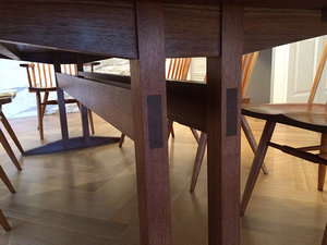 Double Column Trestle Dining Table Wickham Solid Wood Studio - Double trestle dining table