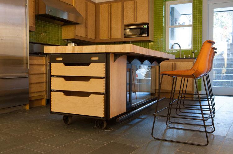 Sugar Maple + Blackened Steel Kitchen Island — wickham solid wood studio