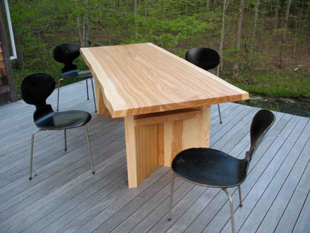 ... White Ash Chevron Table 2745 ...