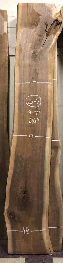 """BWSTORM-L1-2    9'-7"""" L x 17"""" W x 2.25"""" T    30.5 bf @ $20/bf    $611"""